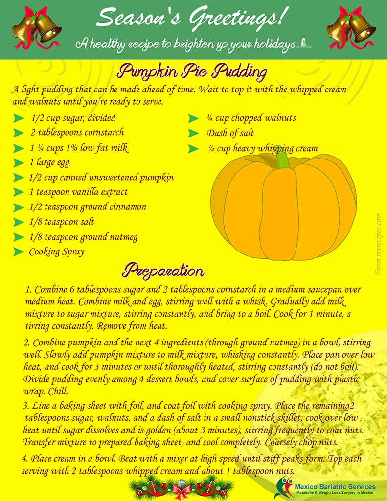 Healthy Holiday Recipe - Pumpkin Pudding