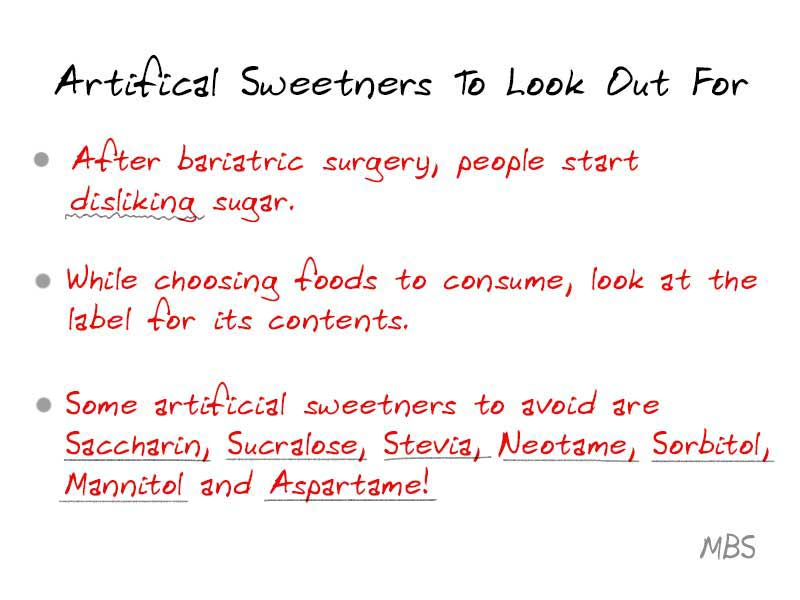 Artificial Sweetners to Avoid