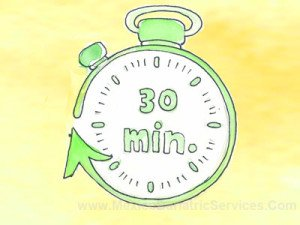 Keep a gap of 30 minutes between eating and drinking