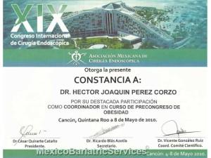 Coordinator Certificate - Endoscopy Congress