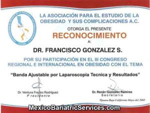 Lap Band Ceritification - Dr. Gonzalez Tijuana