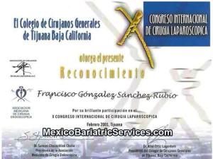 Laparoscopic Surgery Certificate - Dr. Gonzalez