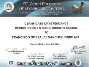 Morbid Obesity Surgery Certificate - Dr. Francisco