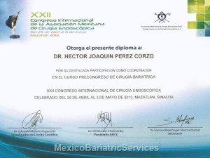 WLS Certificate – Dr. Hector Perez