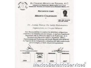 Degree – Dr. Jaime Ponce De Leon Palomares