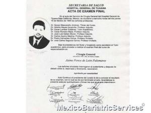 Dr. Jaime Ponce De Leon - General Surgery Certificate