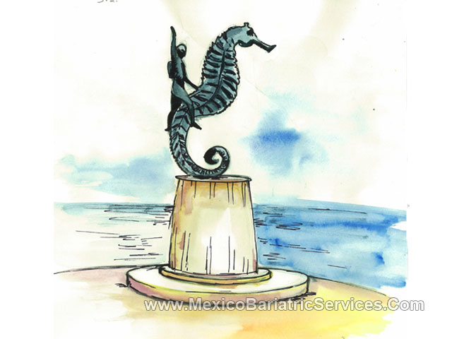 'Boy of the Seahorse' Statue in Puerto Vallarta - Mexico