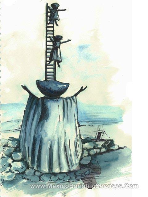 """In Search of Reason"" - a sculpture in Puerto Vallarta - Mexico"