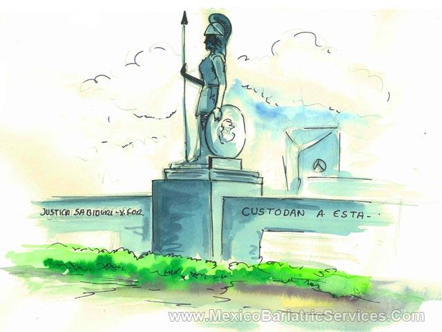 Statue of Roman Goddess Minerva - Guadalajara, Mexico