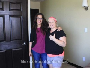 Gretchen with her desination manager in Tijuana