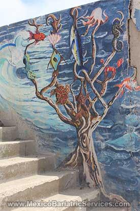Mural in Playas de Tijuana - Mexico