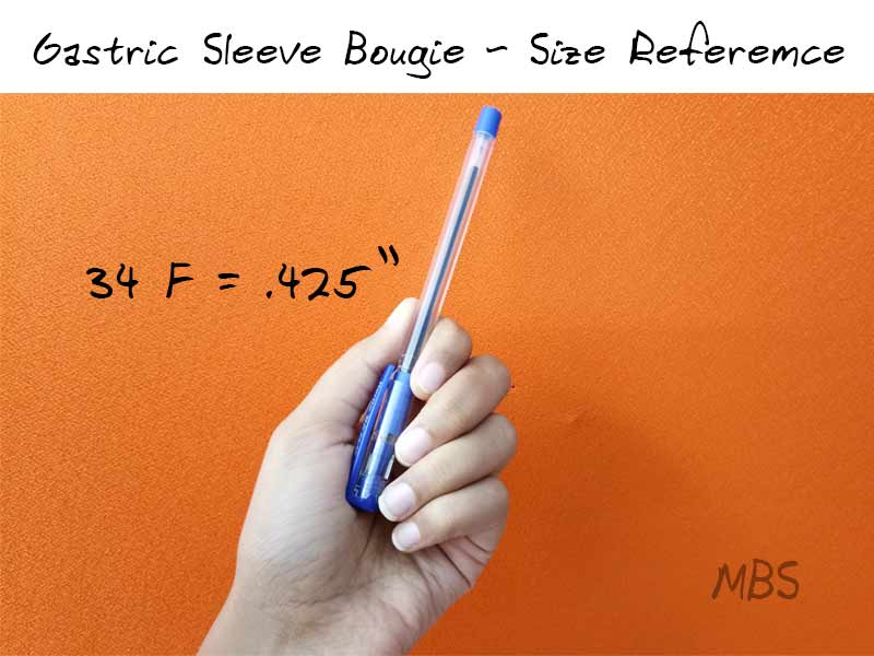 Gastric Sleeve Bougie Size for Reference