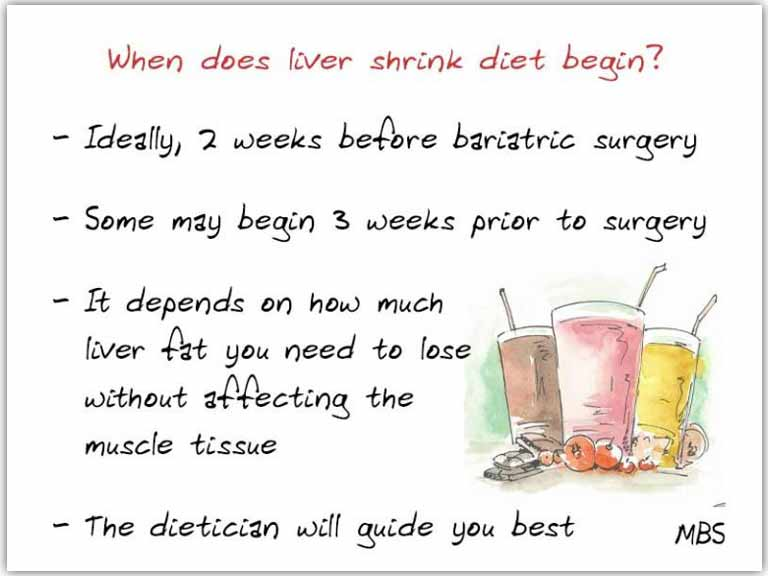 pre-op bariatric diet with food