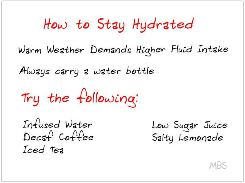 how to stay hydrated in summers after WLS