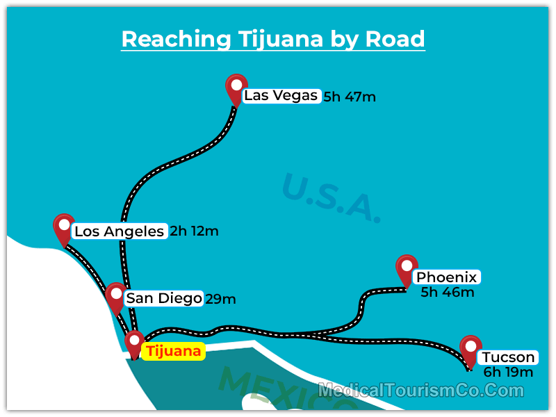 Tijuana Travel Info Road Distance