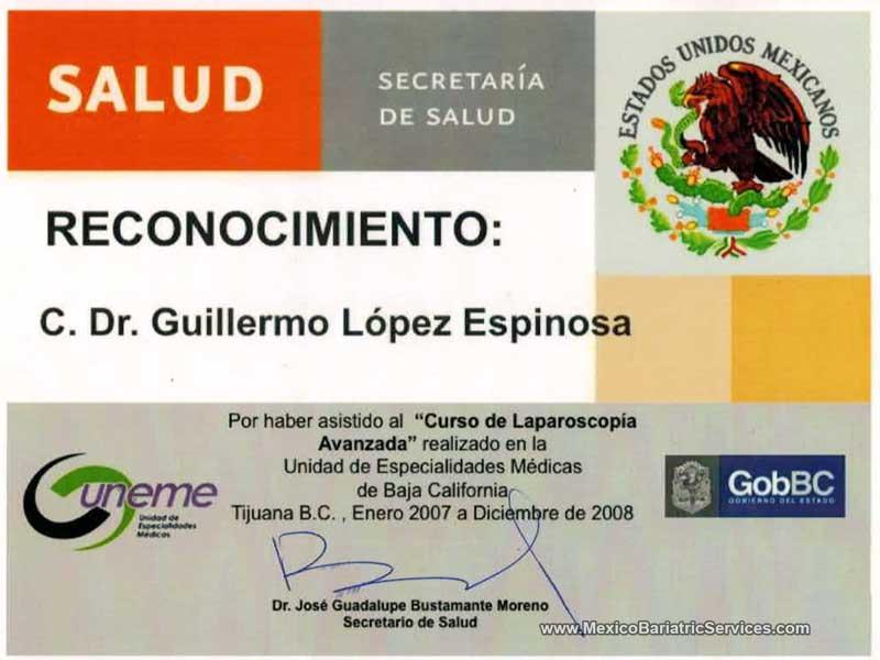 Dr. Guillermo Lopez Bariatric Surgeon Tijuana