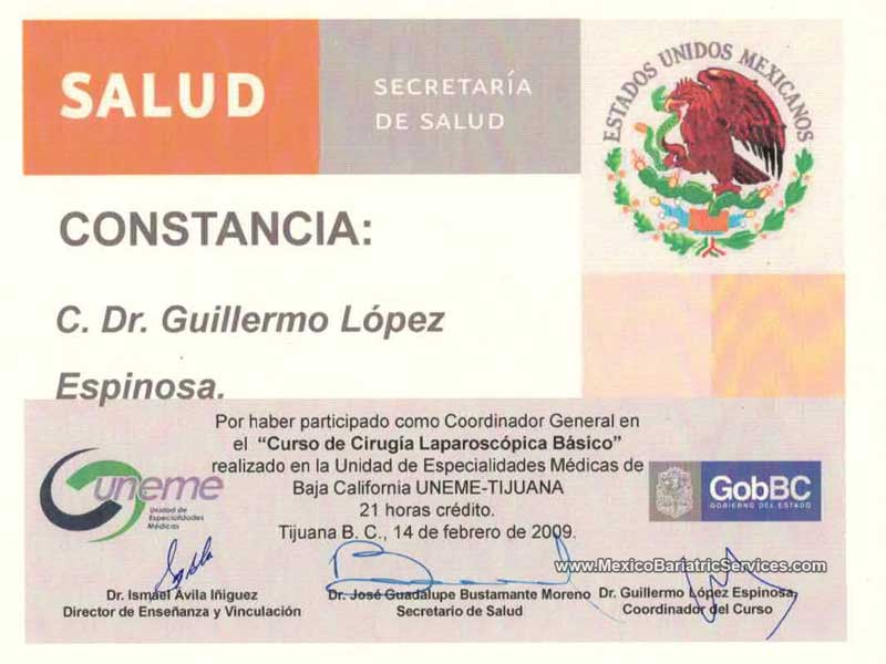 Dr. Guillermo Lopez Laparoscopic Surgery Tijuana Mexico