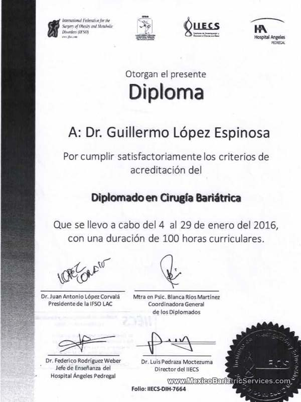 IFSO Training Dr. Guillermo Lopez