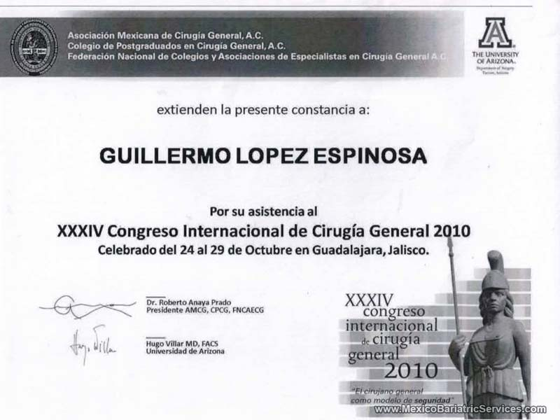 International General Surgery Congress Dr. Guillermo Lopez