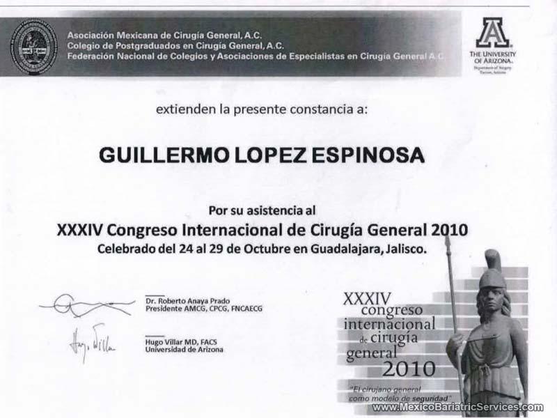 International General Surgery Congress Dr. Guillermo Lopez